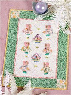 Quilting - Patterns for Children & Babies - Applique Quilt Patterns - 3-D Sunbonnet Sue