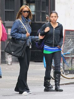 Iman and Alexandria pictured in 2013