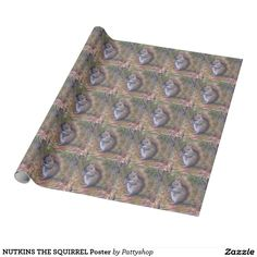 NUTKINS THE SQUIRREL Poster Wrapping Paper