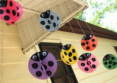 """Twirling Ladybirds Summer Craft Project-  I'm going to """"try"""" this with my PreK and K kids this week."""