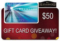 Check out our Gift Card Giveaway! $50 Showcase Cinemas Gift Card!  Check out our facebook tab for more information  See our Gift Card Giveaway tab for more. https://www.facebook.com/HeatherwoodCommunities/app_119418044857596