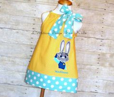 Zootopia Dress/ Personalized Zootopia Outfit/ Officer Hopps Dress (matching bag available) by CreativeBagsForKids on Etsy