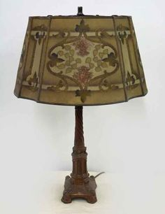 Antique rembrandt metal wire mesh lamp shade art nouveau victorian the combination of the tapestry mesh shade by the rembrandt co sitting on the bronze clad lamp base made by galvano bronze and the paul mori son keyboard keysfo Gallery