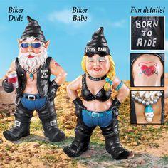 Biker Garden Gnomes