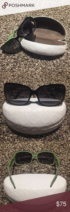 COACH sunglasses Black COACH sunglasses with hardshell case. Used but I'm good condition. Coach Accessories Sunglasses