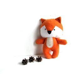 "Fox foxy rag doll soft toy stuffed toy fox plushie fox softie stuffed animal stuffed fox woodland forest red rusty orange 26 cm 10.2"""