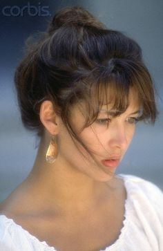 Sophie Marceau (French actress since 1980 La Boum) (b. 1966 Nov 17) depicted when teen • also author/screenwriter/director • starred in Braveheart (1995) + Firelight (1997) + The World Is Not Enough (1999) • proof of the American, hm, French Dream: sublime beauty & career born from shop assistant mother Simone & truck driver dad Benoît Maupu, divorced when 9–could've easily fallen into depression as actress/singer Isabelle Adjani (b. 1955) • married to Christopher Lambert! 2012