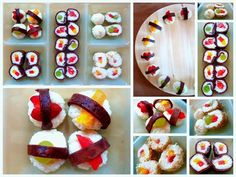 Sweet Sushi as desert <3 love the idea!
