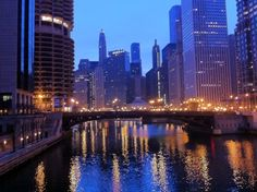 Chicago River with Marina Towers on the left