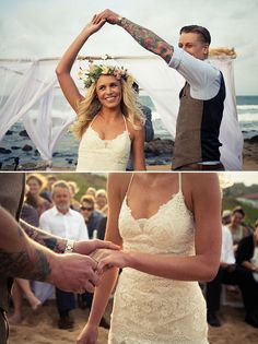 Wonderful wedding in Durban beach, South Africa. If I wanted a laid back, beachy wedding, I'd love something like this