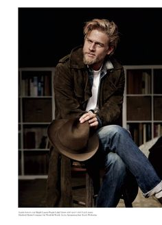 Charlie Hunnam's editorial in  Man of the World , along with the fact that he was in my dream the other night, has secured his position a...