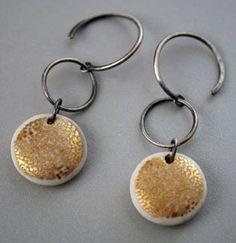 Pilar Cotter - Earrings, porcelain,  silver