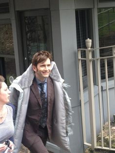 David Tennant on set for the 50th Anniversary. #DoctorWho