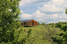 """DublDom - a model of a modular home, set in Ecopark """"Yasnopole"""". Our client - architect, experienced furniture maker and founder of Eco-park. Modular Cabins, Prefab Cabins, Prefabricated Houses, Modular Homes, Modern Prefab Homes, Small House Plans, Common Area, House Prices, Building A House"""