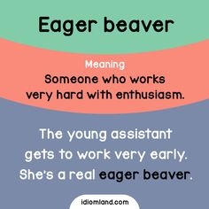 Are you an eager beaver? #idioms #english #learnenglish #englishidioms