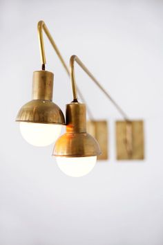 Today we bring you a special selection of unique golden wall sconces for you to use in your home industrial interiors. Interior Lighting, Home Lighting, Lighting Design, Industrial Lighting, Lighting Stores, Luxury Lighting, Lighting Ideas, Nautical Lighting, Modern Lighting