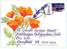 2002 Graceful Envelope Winners / Saunders. What a lovely way to receive the mail!