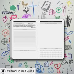 The Catholic Planner is the perfect tool for Catholics to organize their busy lives while keeping Christ at the center. Dynamic Catholic, Busy Life, Planners, Joy, Organization, How To Plan, Organisation, Being Happy, Organizers