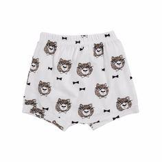 Baby Boy/Boy's Gentleman Bear White Cotton Shorts/Bottom, 30% discount @ PatPat Mom Baby Shopping App