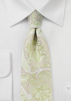 Chartreuse and Pink Paisley Tie - Looking for the perfect summer tie to go with all your summer suits in beige, tan, light gray, and indigo blue? Then this chartreuse yellow t Paisley Tie, Paisley Dress, Wedding Ties, Boho Wedding, Summer Suits, Floral Tie, Indigo, Pastel, Bows