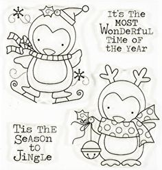 Season To Jingle Clear Stamp Set by Art Gone Wild & Friends Christmas Quotes, Christmas Fun, Vintage Christmas, Silhouette Cameo Vinyl, Simply Stamps, Christmas Drawing, Mft Stamps, Colouring Pages, Clear Stamps