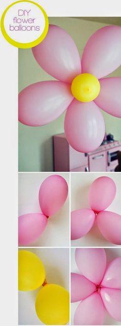 DIY flower balloons.