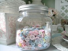 Pretty pastel buttons