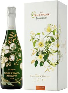 Perrier-Jouët Champagne Belle Epoque - Edition Florale ~ Pinned by Nathalie Gobbe