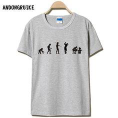 76b2ebda0f74c0 Evolution of the T shirt Men Casual Short Sleeve T Shirt O Neck Cotton Mens  t shirt Man Tops Tees Free Shipping S 4XL-in T-Shirts from Men's Clothing  ...
