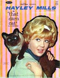 Hayley Mills & That Darn Cat paper doll book, 1965.