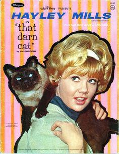 Hayley Mills & That Darn Cat paper doll book, 1965.