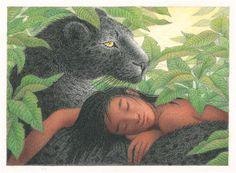 Mowgli & Bagheera - Nicola Bayley
