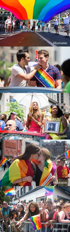 Here are a few of the festivities from NYC's 2014 Gay Pride March.