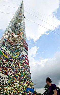 World's Tallest Lego Tower Legos aren't just for playing around. A team of 6,000 block enthusiasts in Sao Paulo, Brazil, has put together what is reportedly the world's tallest Lego tower. The structure, which rises 102 feet 3 inches, tops a previous record set in Santiago, Chile.