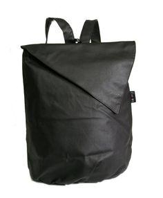 Vegan BLACK Backpack Laptop 15 backpack lap top by estelladesign, $94.00