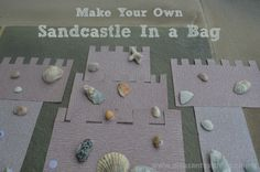 Make Your Own Sandcastle: busy bag idea for toddlers and preschoolers