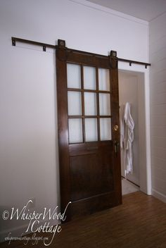 barn doors with glass that slide | sliding barn door saga: Inspiration