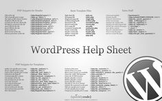 #infographics: #wordpress Help Sheet http://phprocks.letsnurture.com/infographics-for-php-developers/
