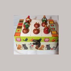 Jeu enfant, bois, Tic Tac Toé ou morpion, oiseaux pommes : Jeux, jouets par ludifimo