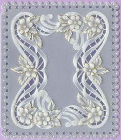 Vellum Paper, Paper Art, Parchment Design, Scrapbook Images, Parchment Cards, Cutwork Embroidery, Anna Griffin Cards, Creation Deco, Newspaper Crafts