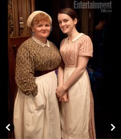 Mrs. Patmore and Daisy of Downton abbey