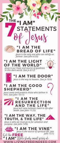 The Spiritual Wake Up Call You Need This Easter + FREE Email Series - Free Indeed | The I Ams of Jesus | I am the Bread of Life | I Am the Light of the World | I am the Door | I am the Good Shepherd | I am the Resurrection and the Life | I am the Way, the Truth, and the Life | I Am the Vine | #EasterDevotional | Book of John Bible Study