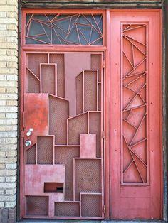 Los Angeles Doors Photogeek_21 at Flickr calls this The Magic Door - downtown Los Angeles