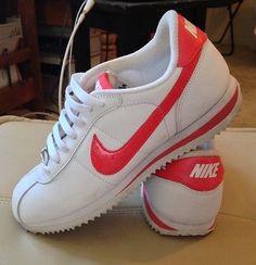 info for 9c62b 942d1 Nike Cortez Women  06 Size 7 White Fusion Red Swoosh Leather Tennis Shoe  Sneaker   eBay. CPFinds · FOOT FETISH · Nike Air Force 1 Ultra Flyknit    Zapatillas ...