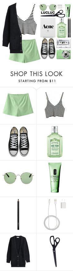 """☽✧ when you nod your head yes, but you want to say no"" by blonde-scorpio-xo ❤ liked on Polyvore featuring Converse, L'Occitane, Linda Farrow, Clinique, MAC Cosmetics, PhunkeeTree, Closed and HAY"
