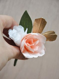 Diy paper flower corsages projects to make pinterest flower pretty handmade paper flower corsages and boutonnires for weddings mightylinksfo