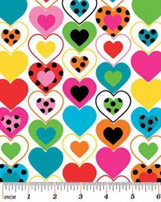 """Hearts Multi"" Craft Cottonhttp://www.elephantinmyhandbag.com/all.php#!/Hearts-Multi-Craft-Cotton/p/48674506/category=2526021"