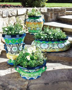 Moroccan-Design Planters at Horchow.