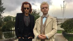 Neil Gaiman released the first 'Good Omens' set photos of Michael Sheen and David Tennant, plus confirmed new cast members for the series. Michael Sheen, David Tennant, Jon Hamm, Neil Gaiman, Freddie Mercury, Jack Whitehall, Good Omens Book, Sean Penn, Terry Pratchett