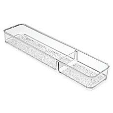 image of InterDesign® Rain 2-Compartment Divided Tray in Clear
